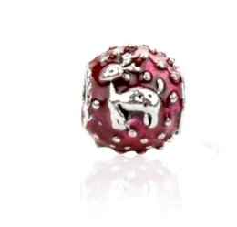 c18ffef7d Fit Pandora Charm Bracelet European Silver Charms Beads Christmas Enamel  Reindeer DIY Snake Chain For Women Bangle Necklace Jewelry Xmas