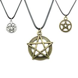 $enCountryForm.capitalKeyWord Canada - New European and American Movie Jewelry Anime Kuroshitsuji Satan Symbol Necklace Pendant Statement Necklace