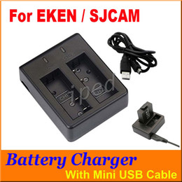 Branded Cameras Canada - SJCAM Brand Accessories Dual Slot Charger Battery Charger For Spare Battery For SJCAM SJ4000 SJ5000 M10 Original EKEN Series Sport Camera 30