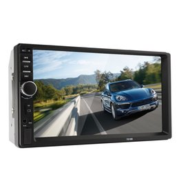 Автомобиль 7018B 2 DIN 7 дюймов Bluetooth аудио в тире сенсорный экран автомобильное радио автомобильный аудио стерео MP3 MP5 плеер USB поддержка SD / MMC