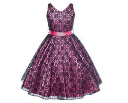 China Beautiful Baby Girls Dresses Hot Sell Gilr's Dresses Pretty Lace Diamond Belt Vest Dress Multi Colors Children Dress Party Dance Wear 9411 supplier red beautiful suppliers