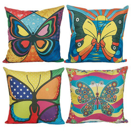 New Style Plant Animal Pattern Pillow covers Butterfly Design Pillow Covers Butterfly Pillowcase Home Decor Butterfly Cushion Covers