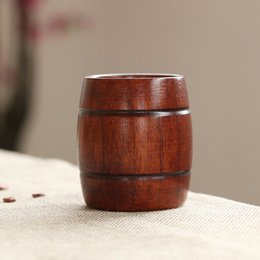 Wooden clamps online shopping - Wood Cup Natural Hand Made Beer Mug Healthy ECO Friendly Wooden Practical Drink Tool Hot Sale zz F R