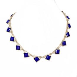 $enCountryForm.capitalKeyWord UK - Free Shipping Wholesale Fashion Crystal Collar Necklace, Navy Simple Necklace, Wholesale Jewelry Fashion Party New Necklace