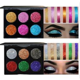Discount diamond water - Wholsale HANDAIYAN Diamond Golden Color Powder Glitter Eye Shadow Palette Shiny Eyeshadow Palette Makeup To Faced Cosmet
