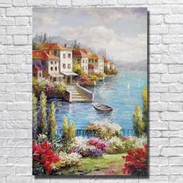 Best Canvas Wall Decor Canada - Hang Pictures Sea Landscape Painting Living Room Wall Decor Best Quality Oil Painting on Canvas No Framed