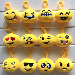 6cm plush Canada - Bulk 100Pcs Lot New Hot Cute Internet Emoji Different Creative Expression Plush Toys Pendant Doll Collectible Gifts for Children 6cm and 8cm