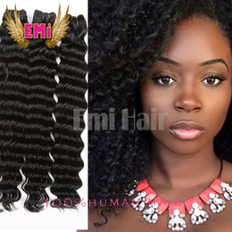Discount weave styles for natural hair 2017 weave styles for new style natural hair pretty deep curly wave boudles brazilian virgin human hair weaves 3pcs mix length 8 28 for black women pmusecretfo Images