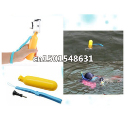 hand floats Canada - Gopro Float Floaty Hand Monopod Grip Floating Pearlized yellow Handle w  Wrist Strap For Gopro Camera Hero 3 3+ Accessories