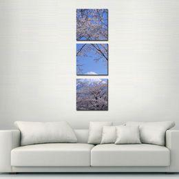 $enCountryForm.capitalKeyWord Canada - Canvas Print Wall Art Painting For Home Decor Peak Of Mount Fuji With Cherry Blossom Sakura In Blue Sky View From Lake Kawaguchiko