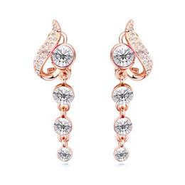 $enCountryForm.capitalKeyWord Canada - Summer Sale Unique Design Luxury Austrian Crystal Bubbles Poetic Ldyllically Fashion Jewelry Accessories Bride Charm Stud Earrings For Women