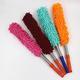 Wholesale Stainless steel telescopic chenille dust dust dust brush car duster duster wholesale
