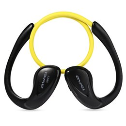 Chinese  Wholesale-Awei A880BL Wireless Bluetooth Sports Stereo Ear Hook Earphones Noise Cancelling for Mobile Phone Portable Media Player Sport manufacturers