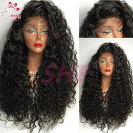 $enCountryForm.capitalKeyWord Canada - Glueless Full Lace Human Hair Wig For Black Women Brazilian Virgin Hair Full Lace Wigs Curly Lace Front Wigs With Baby Hair