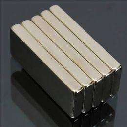 Ndfeb Block Magnets NZ - 5pcs N52 Strong Rectangular Neodymium Magnets 25x10x3mm Block NdFeB Rare Earth Magnets
