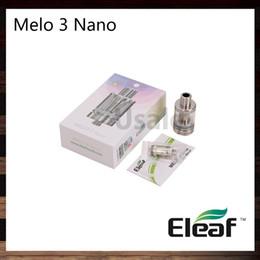 ElEaf airflow tank online shopping - Ismoka Eleaf Melo Nano Atomizer ml Top Filling Tank Hidden Airflow Control New ECML ohm Head Original