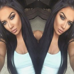 Straight Gluless Lace Front Human Hair Canada - Straight Full Lace Wigs Brazilian Hair Full Lace Human Hair Wigs For Black Women Gluless Lace Front Wigs With Baby Hair
