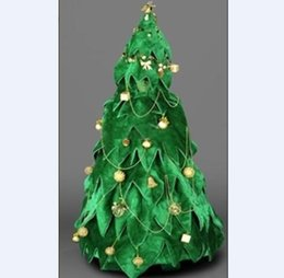 Barato Trajes De Halloween Da Árvore-Festa Halloween Costume novo Xmas Tree Mascot Fancy Dress