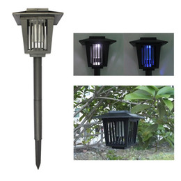 Wholesale Eco Friendly Solar Powered Outdoor Mosquito Repeller LED Insect Pest Bug Zapper Killer w Pin Graden Lawn Light