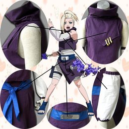 Wholesale xxxl naruto cosplay for sale – custom Japanese Anime Naruto Cosplay Young Yamanaka Ino Costume top skirt sleevelet waistband per set for adults