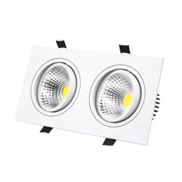 Super Bright LED Downlight 10W 14W 18W 24W Dimmable 2 Head Led Ceiling  Recessed Light Indoor Bedroom Decoration Light AC 85 266V