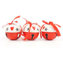 discount large christmas bells christmas decoration 6pcs white red metal jingle bell large size 65mm