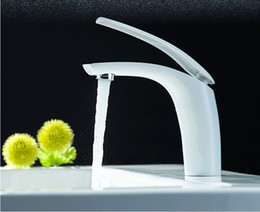 $enCountryForm.capitalKeyWord NZ - Wholesale- New arrival high quality white and chrome single lever brief bathroom sink faucet basin faucet,sink mixer
