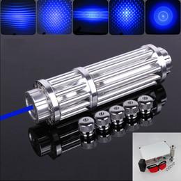 bd20a4b537e 450nm супер высокой мощности синий лазерные указки ручка регулируемый фокус  мощный лазер + 5 шаблон адаптеры + зарядное устройство + защитные очки + ...