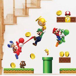 $enCountryForm.capitalKeyWord Canada - Cartoon Stickers Super Mario Wall Stickers For Kids Rooms Children Wall Stickers Bedroom Home Decor