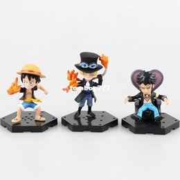 one piece law toys 2019 - NEW hot 8cm 4pcs set Q version One piece ace Sabo luffy Trafalgar Law action figure toys doll collection Christmas toy c
