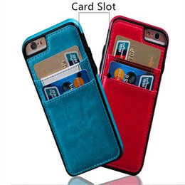 $enCountryForm.capitalKeyWord UK - Vintage Retro Card Pocket PU Leather Case With Cash Slot Shockproof Back Cover For iphone X 8 7 plus 6 6s plus 5s se samsung s8 s8 plus s7