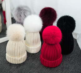 $enCountryForm.capitalKeyWord NZ - Quality Removable Real Mink Fox Fur Pom Poms Ball Acrylic Beanies Winter Warm Plain Hats Adults Kids Children Slouchy Mens Womens Snow Cap 1