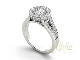 newly design white silver 925 zircon wedding ring fake facny silver