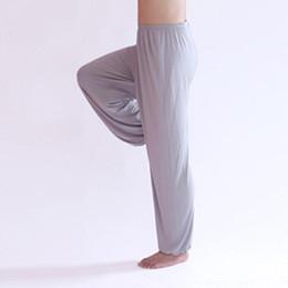 mens full length yoga pants 2019 - Wholesale-Loose Yoga Pants 9 Colors Dance Trousers Modal Staight Mens Joggers Sweatpants L-3XL Size Fitness Or Training
