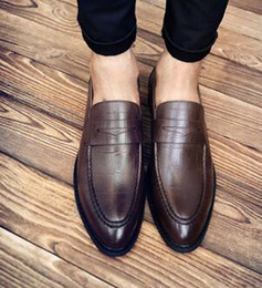 Formal Man Leather Shoes Flat Canada - Men Formal Shoes Stylish Mens Wedding Split Leather Party Business Dress Male Oxfords Size: EU38-43