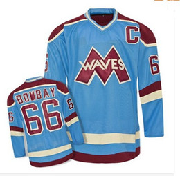 Discount anti wave - #66 Gordon Bombay VERY RARE NO RESERVE Gordon Bombay Gunner Stahl Mighty Ducks Waves Hockey Jersey Any Name and Any Numb