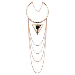 $enCountryForm.capitalKeyWord UK - Europe and America Fashion The Snake Chain Of Bone Vintage Multilayer Tassel Choker Necklace Triangle Statement Necklaces Jewelry For Women