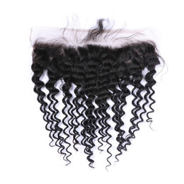 Tangled Lights UK - 8A Quality Indian 13*4 Loose Wave Lace closure No Shedding Free Tangle Full And Thick Free Shipping Fee DHL