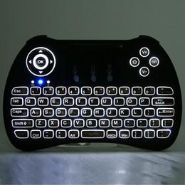 Drahtlose hintergrundbeleuchtete Tastatur H9 Fly Air Maus Multimedia Fernbedienung Touchpad Handheld QWERTY mit Blacklight im Angebot