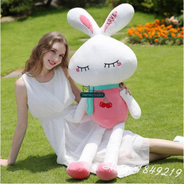 Giant Rabbit Canada - Dorimytrader New Lovely 130cm Giant Stuffed Cartoon Rabbit Toy Stuffed Soft 51'' Bunny Doll 4 Color Nice Girl Gift Free Shipping DY61123