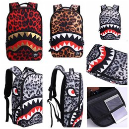 Discount anime laptop - Shark Print Laptop Bag School Travel Backpack Book Shoulder Daily Pack Anime Cartoon Cosplay Movies Backpack Travel Scho
