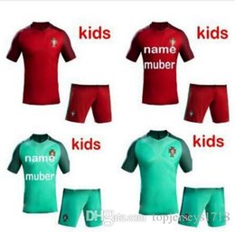 6aba1803f28 ... football suit wear men kids customize number name portugal kids kits  soccer jerseys 16 17 ronaldo