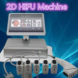Écran De Levage Pas Cher-Promotion 2017! 2D hifu Wrinkle Removal Face Lifting hifu machine 15inch écran tactile salon de beauté salon 2d hifu