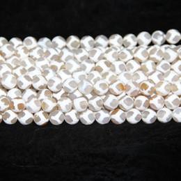 $enCountryForm.capitalKeyWord Australia - 2018 Tibetan Agate Beads, White Women Dzi Ball Agate Natural Gemstone Quartz Druzy Agate Necklace Pendant Jewelry Make Connector