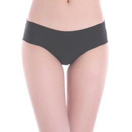 Discount underwear hipster - Wholesale-Solid Women Invisible Seamless Soft Thong Lingerie Briefs Hipster Underwear Panties