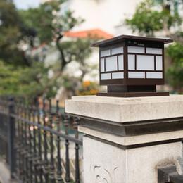 Doorpost Solar Lights Column Headlights Wall Outdoor Garden Lighting  Landscape Led Super Bright Villa