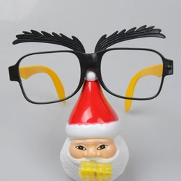 photo funny prop Australia - Personalized Funny Unisex Santa Claus Blowout Sunglasses Plastic Party Christmas Glasses For Costumes Photo Booth Props