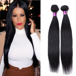 6a Straight Hair NZ - Brazilian Human Hair Straight 3 Bundles 100g pcs Natural Black 6A Brazilian Straight Hair Human Weaves Brazilian Human Hair Extensions