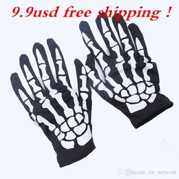 Barato Vestidos Pretos Do Evento-Halloween Black White Skeleton Gloves Skull Ghost Clothes Fitting Ghost Bones Fancy Dress Accessory Home Event Festive Party Supplies 77