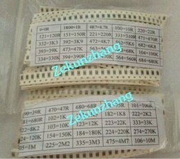 Chinese  1250pcs Free shipping 50 Value 1206 SMD Resistor Kit (0R~10MR) 5% 100%NEW AND ORIGINAL manufacturers